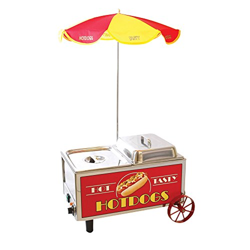 Benchmark 60072 Mini Cart Hotdog Steamer, 120V, 1200W, 10A