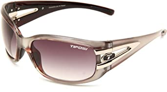 Tifosi Womens Lust 0160404280 Wrap Sunglasses,Crystal Metallic White Frame/Smoke Gradient Lens,One Size