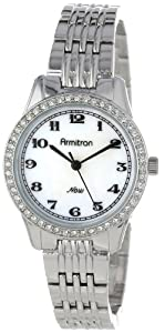 Armitron Women's 75/5069MPSV Swarovski Crystal Accented Silver-Tone Easy-to-Read Bracelet Dress Watch