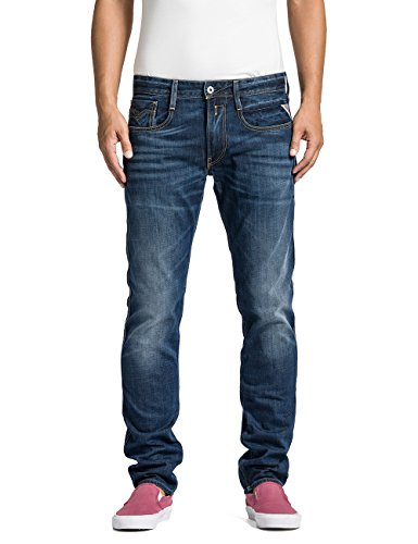 Replay - Anbass, Jeans da uomo, blu(blau (blue denim 7)), 46 IT (32W/30L)
