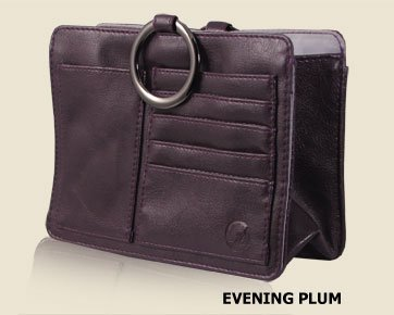 Evening Plum Women's Ultimate Purse Tote Organizer Insert Outback Leatherette Collection By Pouchee