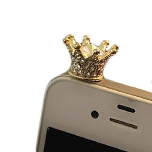 Hotenergy Korea Hot Iphone Dust Plug Anti Dust Earphone Jack Plug Diamond Cute Crown