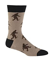 Sock It To Me Sasquatch Brown Men's Crew Socks