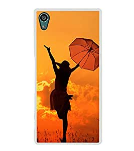 Girl with Umbrella 2D Hard Polycarbonate Designer Back Case Cover for Sony Xperia Z5 :: Sony Xperia Z5 Dual