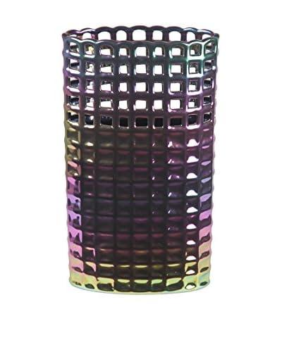 Large Pierced Ceramic Vase, Translucent