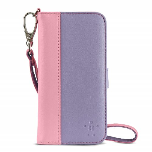 Special Sale Belkin Sartorial Wallet and Case Wristlet for iPhone 5 and 5S (Lavender / Pink)