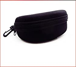 Black Nylon Water proof Sunglass Hard Case with zipper and belt clip by proSPORTsunglasses