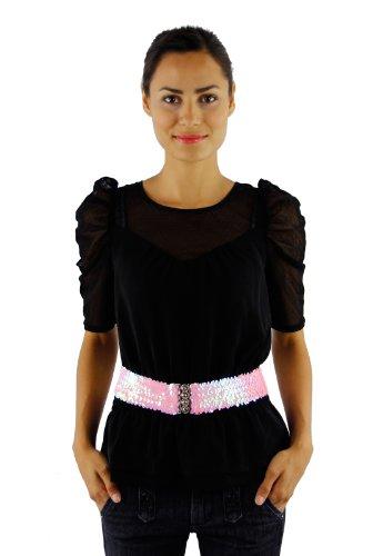 Shimmering Sunset Sequin Belt in 12 Colors Belt Colors: Pink