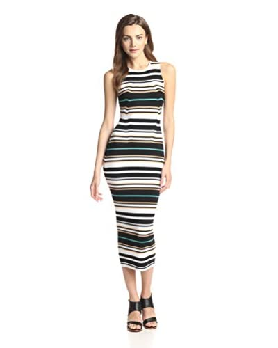 Ronny Kobo Women's Jenessa Striped Rib Dress