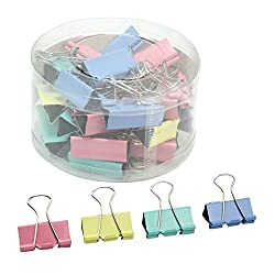 24Pcs Home School Office Supply Teachers Document Paper 32mm Width Binder Clips by ReFaXi