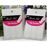 JOVANA French Nail Guide Line Sticker 3 Styles DIY Stencil - 4 Pack