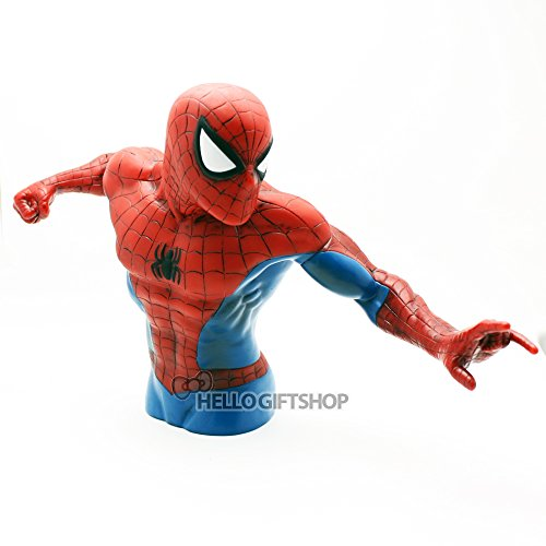 Spider-man Marvel Spiderman The New Bust Die Cut Piggy Bank Picture