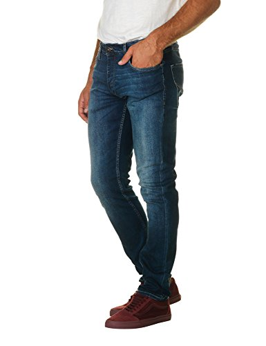 Jack & Jones Men's Men's Blue Jeans In Size 33W 32L Blue
