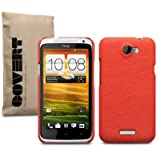 "HTC ONE X LEDER HARDSKIN H�LLE IN ORANGE, COVERT RETAIL VERPACKUNGvon ""COVERT"""