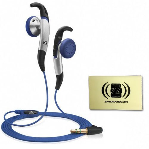 Sennheiser Mx 685 Earfin Design In-Ear Adidas Athletic Headphones Bundle With Custom Design Zorro Sounds Cleaning Cloth