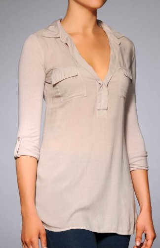 Splendid Long Sleeve Flap Pocket Shirting Tee (ST5964)