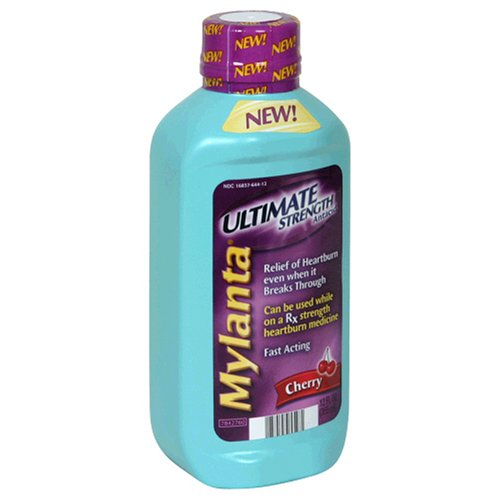 acid_reflux - Mylanta Antacid Ultimate Strength Cherry 12Ounce Bottles Pack - B001E96MIA