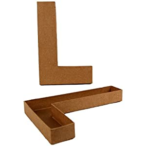 Country love crafts letter l shaped box for Kitchen set letter l