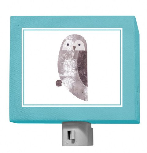 "Oopsy Daisy Forest Friends Owl Night Light, Grayblue, 5"" x 4"""