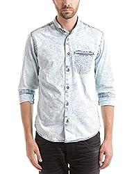 Shuffle Men's Casual Shirt (8907423019188_2021515801_Large_Indigo)
