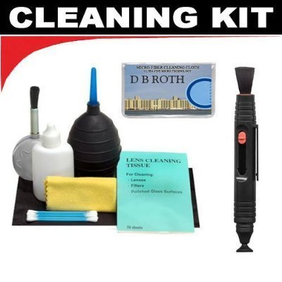 Lenspen Lens Cleaning System + Hurricane Blower + Deluxe 5-Piece Cleaning Kit For The Nikon D5000, D3000 Digital SLR Cameras