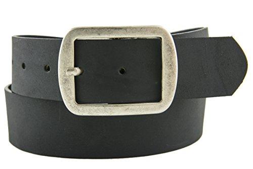 Cobalt Unisex Casual Matte Leather Belt Black Size 34
