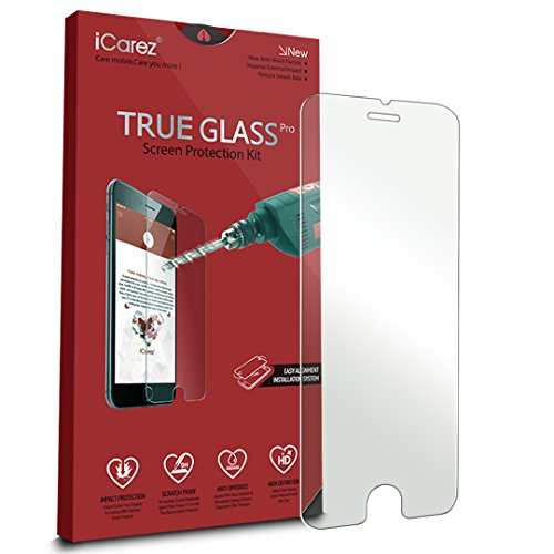 iCarez [Tempered Glass] Screen Protector for Apple iPhone 6 / 6S 4.7 inch Anti Scratch [1-Pack 9H 0.33MM 2.5D] Easy Install with Lifetime Replacement Warranty (Iphone 6 With Warranty compare prices)