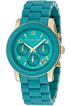 Michael Kors Quartz, Turquoise Dial with Turquoise Stainless Bracelet - Womens Watch MK5266
