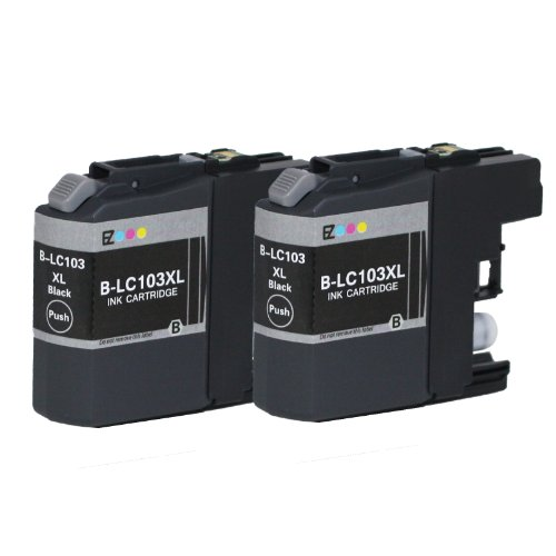 E-Z Ink Compatible Ink Cartridge Replacement for Brother LC-103XL High Yield (2 Black) 2 Pack (Brother Lc103bk Xl compare prices)