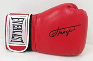 Joe Frazier Signed Red Everlast Boxing Glove SI + LOA