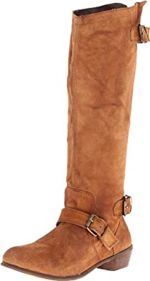 Naughty Monkey Women's Beasty Riding Boot,Tan,6 M US