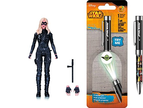 Super Hero Arrow TV: Black Canary Action Figure & Free Star Wars Projector Pen, Colors may vary Toys