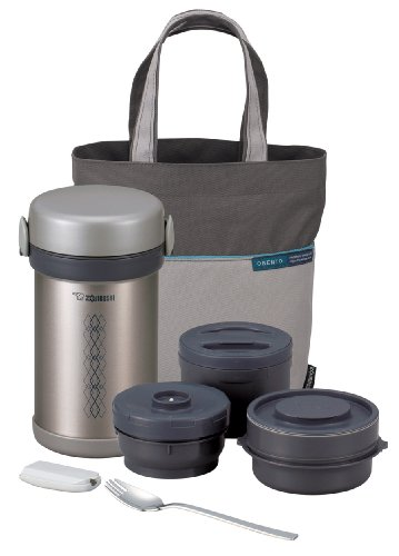 Zojirushi SL-NCE09 Ms. Bento Stainless-Steel Vacuum Lunch Jar (Zojirushi Thermos Bento compare prices)
