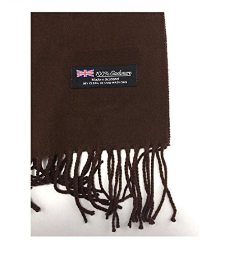 c558a59da9412 Brown (US Seller)Scarf Unisex New Fashion (Solid) Scotland Made Warm. by  9proud
