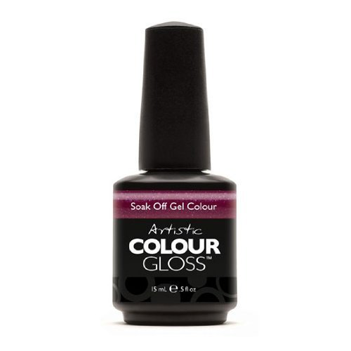 Artistic Nail Design Soak Off Colour Gloss Berry Shimmer Gel Polish 3057 Crazed