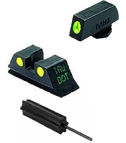 Meprolight The Mako Group Ml10224 Y Glock® Tru-Dot® Night Sight Set Green/Yellow - 9Mm, .357 Sig, .40 S&W & .45 Gap + Ultimate Arms Gear Pro Disassembly 3/32 Pin Punch Armorers Gunsmith Tool