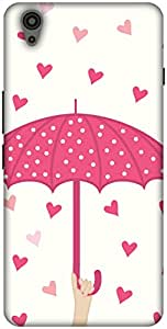 The Racoon Lean printed designer hard back mobile phone case cover for Oneplus X. (Pink Raini)