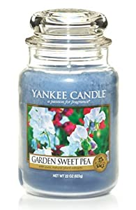 Yankee Candle Large Garden Sweet Pea Jar Candle 1152860 by Yankee Candle