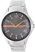 Armani Exchange Grey Dial Stainless Steel Mens Watch AX2102