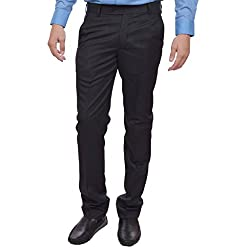 Sangam Apparels Slim Fit Mens Navy Formal Trousers