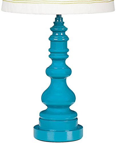 Lolli Living Lamp Base, Teal Spindle