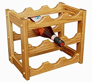 Amish Made Oak Wine Rack