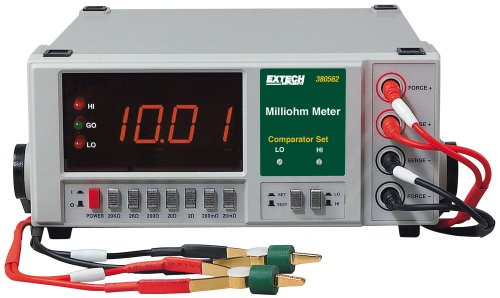Extech 380562 220Vac High Resolution Precision Milliohm Meter