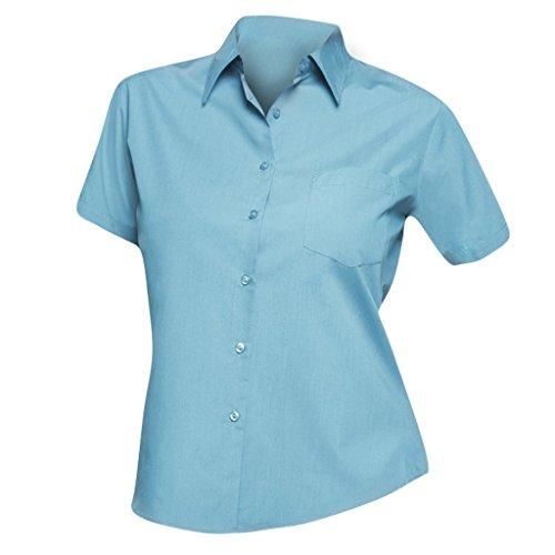 SOLS Camicia da lavoro a maniche lunghe - Donna (M) (Blu Atollo)