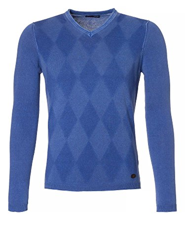 TRUSSARDI JEANS Uomini Pullover in maglia blu 48/S