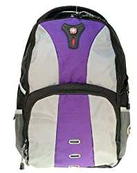 Wenger SwissGear Jasper 16-inch Notebook Laptop Backpack Gray Purple NWT