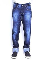 Wabba Mens WF-284SlimFit Jeans-DarkblueStretch