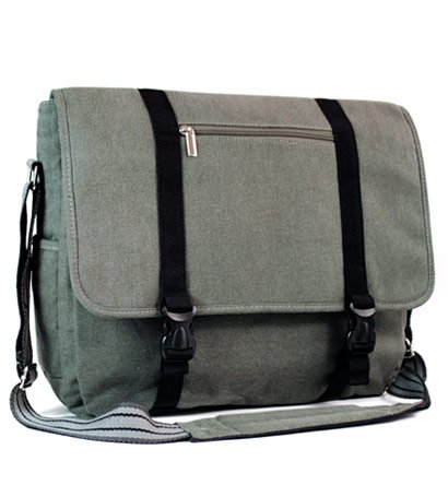 Asus 15.6 inch Notebook Laptop N55SF-S2276V Grey Nylon Messanger Bag with Outside Large Compartment for accessories