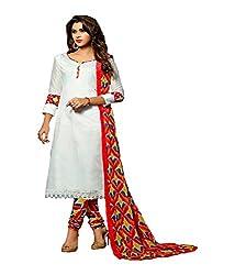 Fashiondiya Antra Chanderi Top, 2.5 Meters Cotton Print Bottom, Print Nazmin Dupatta