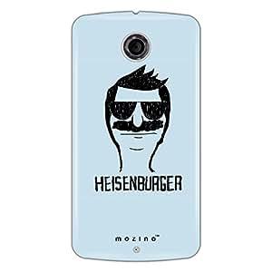Mozine Heisenburger Printed Mobile Back Cover For Google Nexus 6